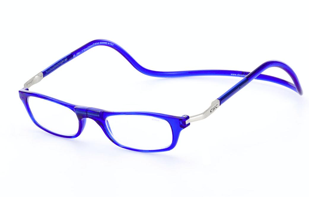 Clic leesbril blauw